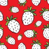 Strawberry seamless pattern for your design. Vector illustration Royalty Free Stock Images