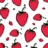 Strawberry seamless pattern for your design Royalty Free Stock Photos