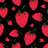 Strawberry seamless pattern for your design. Vector illustration Stock Photo