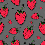 Strawberry seamless pattern for your design Royalty Free Stock Photography