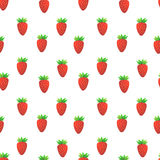 Strawberry seamless vector pattern Royalty Free Stock Images