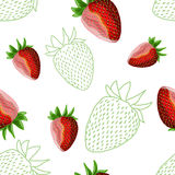 Strawberry seamless Royalty Free Stock Images
