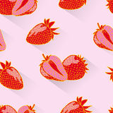 Strawberry seamless Stock Photography