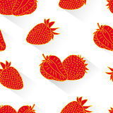 Strawberry seamless Stock Images