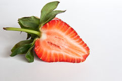 Strawberry section. Group of strawberry on white background royalty free stock photography