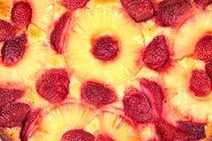 strawberry semolina cake Stock Photos
