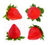 Strawberry set isolated. On white background stock photos