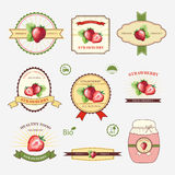 Strawberry, set of label design Royalty Free Stock Photography