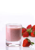 Strawberry shake Stock Photography