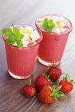 Strawberry shake Royalty Free Stock Photography