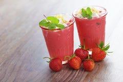 Strawberry shake Royalty Free Stock Images