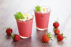 Strawberry shake Royalty Free Stock Photo