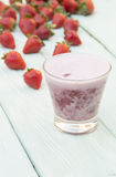 Strawberry shake in a glass Royalty Free Stock Photos
