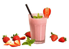 Strawberry shake isolated Stock Image