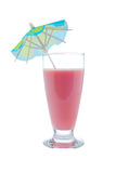 Strawberry shake with umbrella Royalty Free Stock Photography