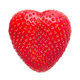 Strawberry shape as heart Stock Photos