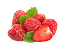 Strawberry shape as heart Royalty Free Stock Images