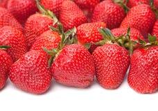 Strawberry shape as heart Stock Photo
