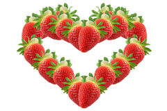 Strawberry, shape of heart Stock Photography