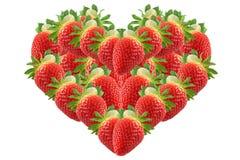 Strawberry, shape of heart Stock Photo