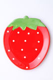 Strawberry-shape plate Royalty Free Stock Photography