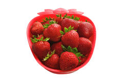 Strawberry Shaped Bowl Stock Images
