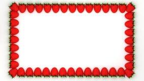 Strawberry shaped rectangle frame Stock Image