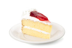 Strawberry sheet cake Royalty Free Stock Images