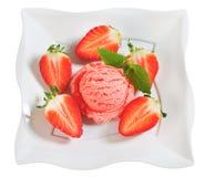 Strawberry sherbet Royalty Free Stock Photo