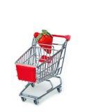 Strawberry on shopping cart Stock Photo