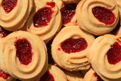 Strawberry Shortbread Cookies. Close up of sweet strawberry shortbread cookies Stock Photo