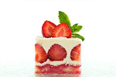 Strawberry shortcake Stock Photo