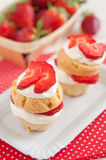 Strawberry Shortcake Muffins Royalty Free Stock Photography