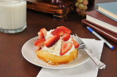 Strawberry shortcake after school Stock Images