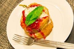 Strawberry shortcake Stock Image