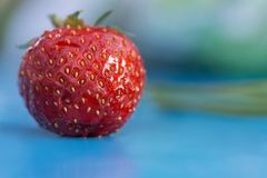 Strawberry. Shot in macro on the table Stock Photo