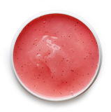 Strawberry shower gel Royalty Free Stock Image