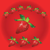 Strawberry sign Royalty Free Stock Images
