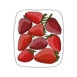 Strawberry, sketch for your design Stock Photo