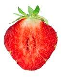 Strawberry slice. On white background Stock Photos