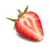 Strawberry slice. Isolated on white background Royalty Free Stock Photos