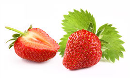 Strawberry with slice Stock Photography