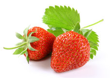 Strawberry with slice Royalty Free Stock Photos