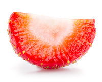 Strawberry slice isolated on white Stock Image