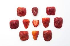 Strawberry slice on white. Background Stock Image