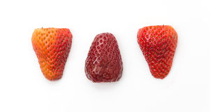Strawberry slice. On white background Stock Photography