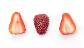 Strawberry slice. On white background Royalty Free Stock Photo