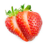 Strawberry. Sliced ​​fruit isolated on white Royalty Free Stock Photography