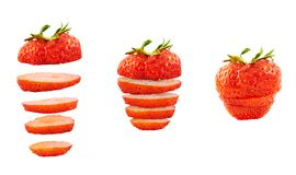 Strawberry sliced into pieces Royalty Free Stock Photos
