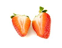 Strawberry slices royalty free stock photography